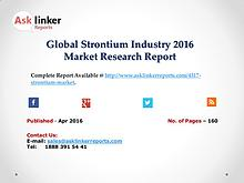Global Strontium Industry Production and Market Share Forecast 2016