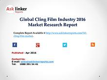 Global Cling Film Market Production and Industry Share Forecast 2016