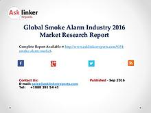 Global Smoke Alarm Market Growth Rate 2016 Industry Supply and Demand