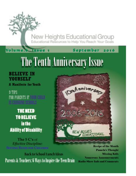 NHEG Magazine - September 2016 Issue 1    Volume  6