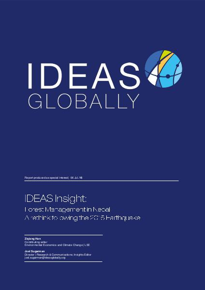 IDEAS Insights Forest Management in Nepal