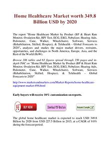 Home Healthcare Market worth 349.8 Billion USD by 2020