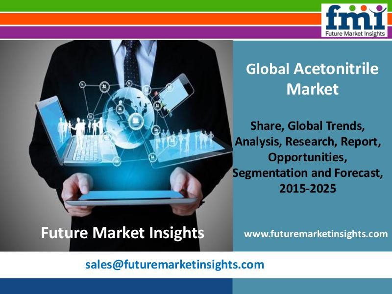 Acetonitrile Market Segments and Forecast By End-use Industry 2015-20 FMI
