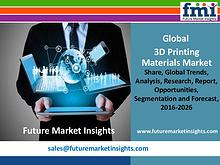 3D Printing Materials Market Strategies and Forecasts,2016-2026