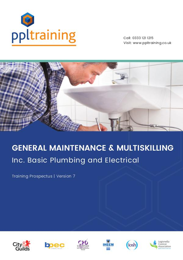 Multi-skilling and Water Maintenance Training Prospectus Version 7