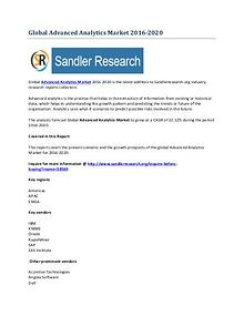 Advanced Analytics Market 2016-2020 Global Research Report