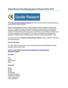 Global Material Handling Equipment Market : Complete Analysis