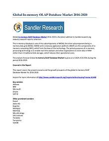 In-memory OLAP Database Market 2016-2020 Global Research Report