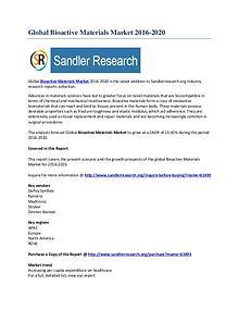 Bioactive Materials Market Segmentation Report 2016 to 2020