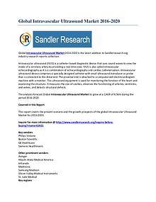 Intravascular Ultrasound Market Key Vendors Research Report 2016-2020