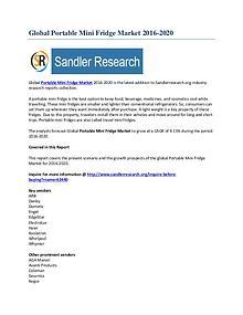 Portable Mini Fridge Market Segmentation Overview 2016 to 2020