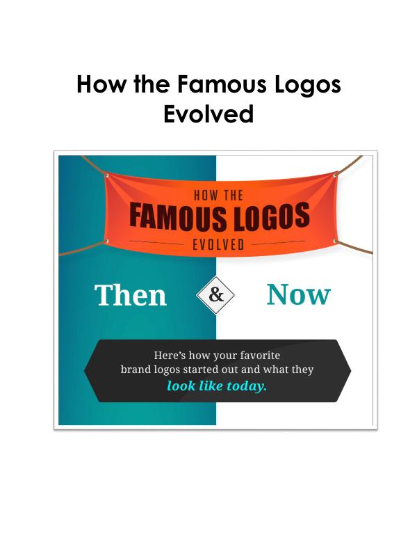 Eight logos that have evolved for better Eight logos that have evolved for better