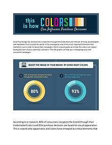 Top your marketing game by using right colors