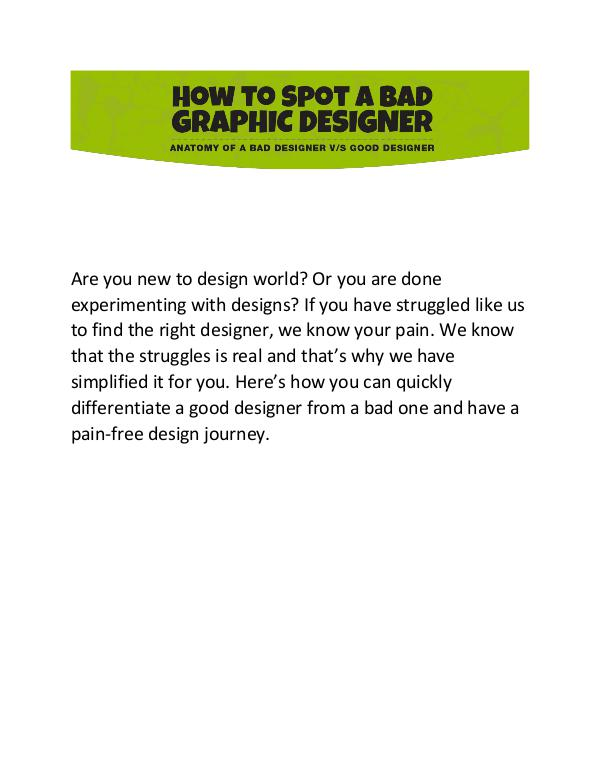 Ever Had a Hard Time in trusting a designer? Ever Had a Hard Time in trusting a designer?