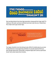 Five Things Good business logos shouldn't be