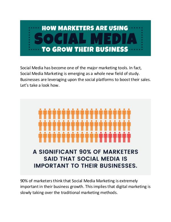 How Marketers are using social media to grow their business social media for marketing in 2017