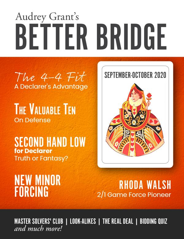 AUDREY GRANT'S BETTER BRIDGE MAGAZINE September / October 2020
