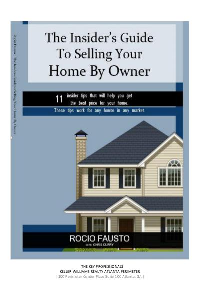The Insider's Guide To Selling Your Home By Owner- Rocio Fausto I