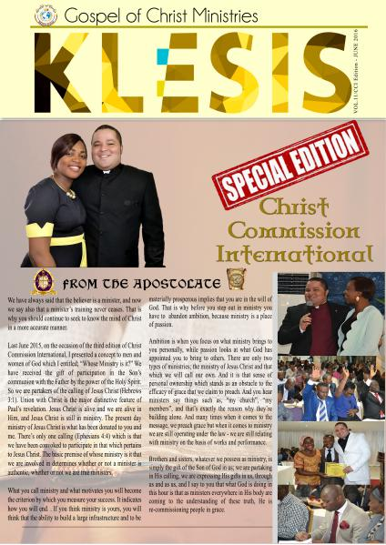 Klesis Newsletter volume 11 / June 2016
