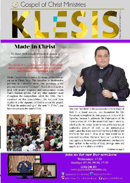Klesis Newsletter Volume 14/Aug. 2016
