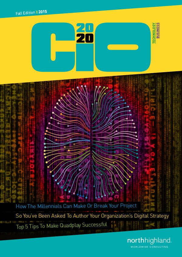 DigiTech Magazine - US CIO2020 - Fall 2015