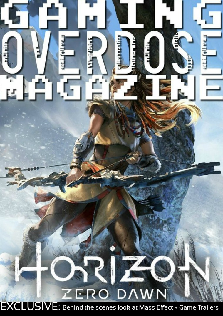 """Gaming Overdose Magazine January/February """"Horizon Zero Dawn"""" Issue"""