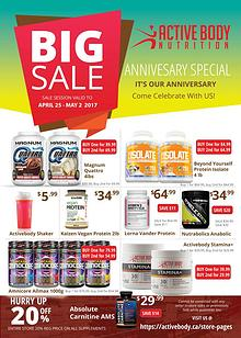 Activebody 2017 Anniversary Sale Flyer