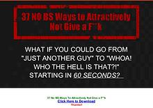37 No BS Ways To Attractively Not Give a Fk PDF Ebook Download Free