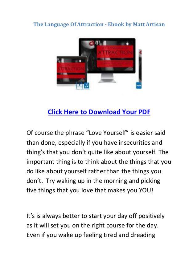 Pdf Language Of Attraction Ebook Matt Artisan Free Download Pdf 273