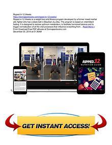 Ripped In 12 Weeks by Tom DeBlass Free PDF Ebook Download