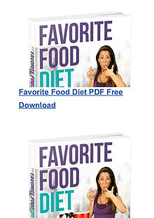 PDF The Favorite Foods Diet Ebook Chrissie Mitchell Free Download