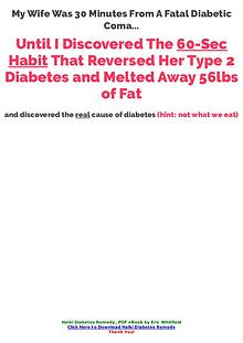 PDF Halki Diabetes Remedy Ebook Free Download