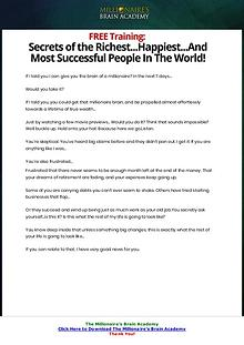 PDF The Millionaire's Brain Academy Ebook Free Download