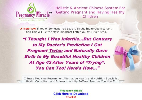 PDF Pregnancy Miracle Ebook Free Download FULL VERSION