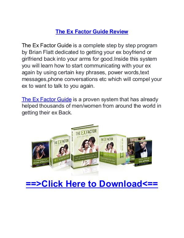 ex factor guide pdf free download