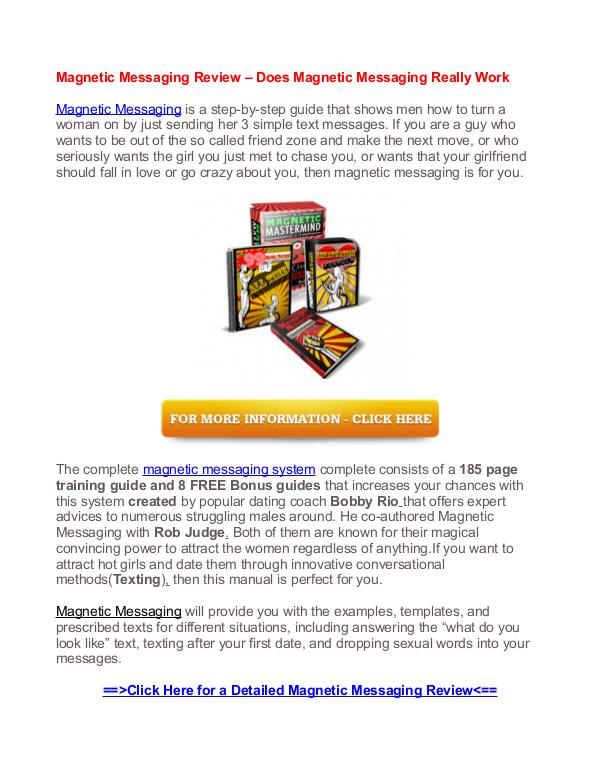 Magnetic Messaging Review - Does Magnetic Messaging Really