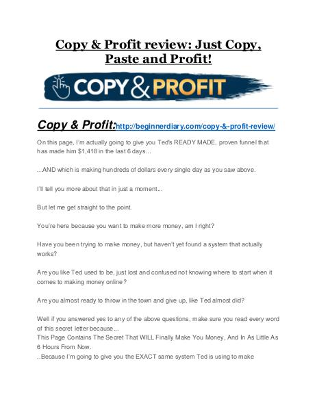 Copy & Profit review-(MEGA) $23,500 bonus of Copy & Profit Copy & Profit review and (COOL) $32400 bonuses