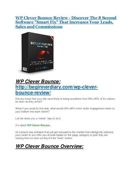 WP Clever Bounce review - A top notch weapon WP Clever Bounce review and $26,900 bonus - AWESOME!