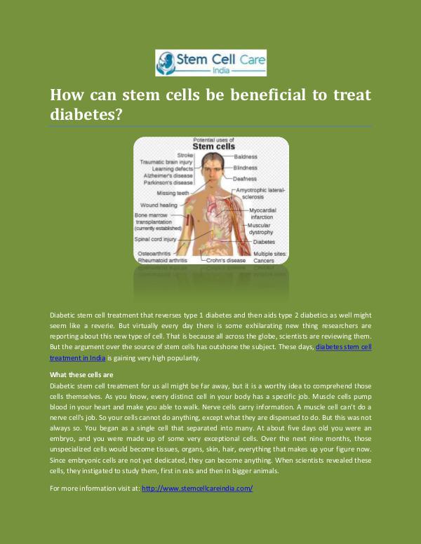 Diabetes Stem Cell Treatment In India Diabetes Stem Cell Treatment In India -Stemcellcar