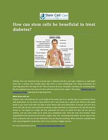 Diabetes Stem Cell Treatment In India