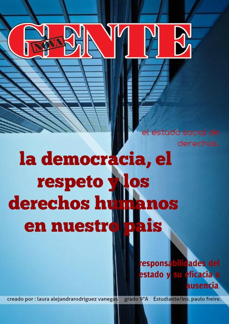 el estado socioal de derechos humanos en colombia