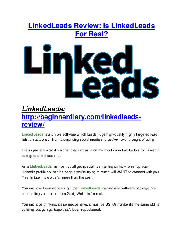 LinkedLeads reviews review and giant bonus with +100 items LinkedLeads reviews review and (GET) +100 items bonus pack