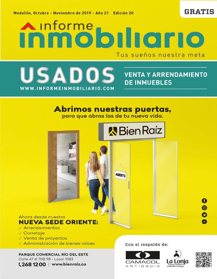 Revista Informe Inmobiliario Usados, edición 20, Oct - Nov. 2019 Volumen 20