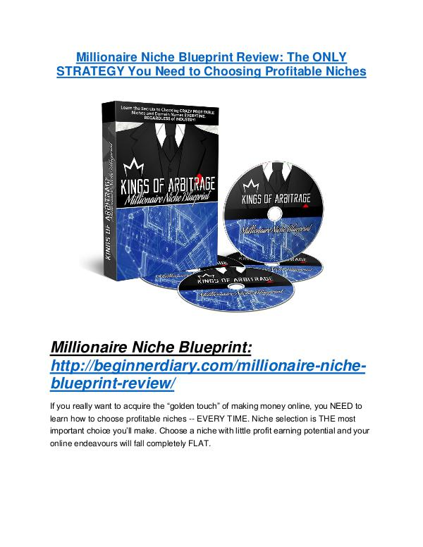 MarketingMillionaire Niche Blueprint REVIEW & Millionaire Niche Blueprint (SECRET) Bonuses Millionaire Niche Blueprint review-SECRETS of Millionaire Niche Blueprint and $16800 BONUS