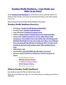 marketing Turnkey Profit Machines Detail Review and Turnkey Profit Machines $22,700 Bonus