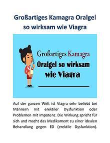 Großartiges Kamagra Oralgel so wirksam wie Viagra