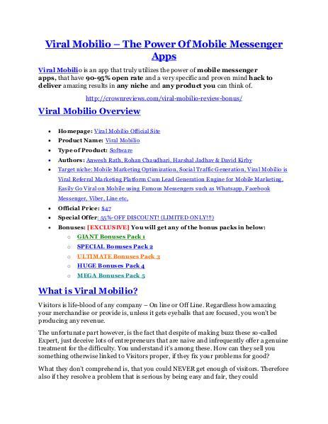 marketingViral Mobilio review & Viral Mobilio (Free) $26,700 bonuses Viral Mobilio Review and $30000 Bonus - Viral Mobilio 80% DISCOUNT