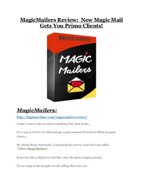 MagicMailers review and (COOL) $32400 bonuses MagicMailers review & bonuses - cool weapon