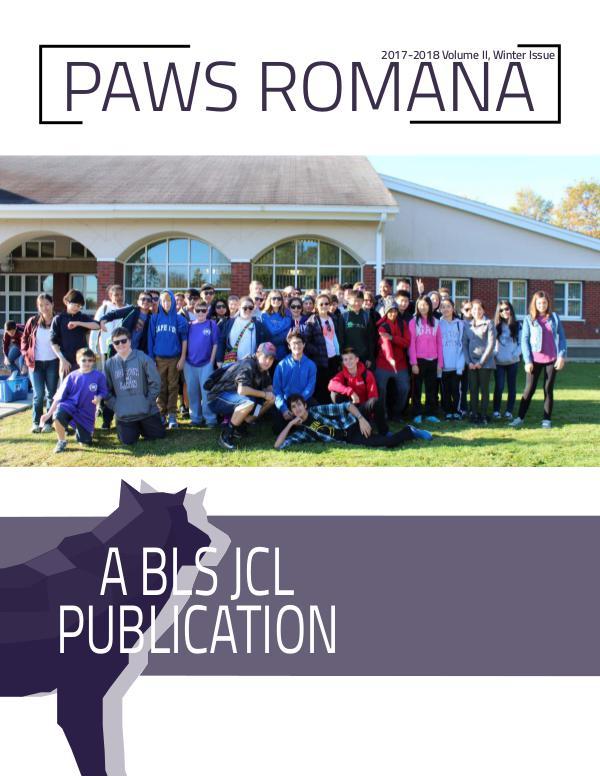Paws Romana Volume IV Issue II