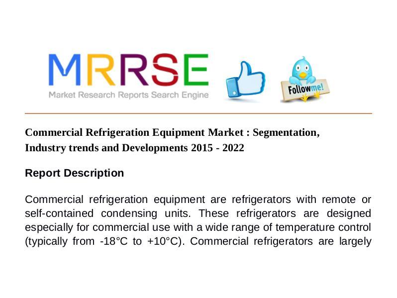 MRRSE Commercial Refrigeration Equipment Market : Segmen